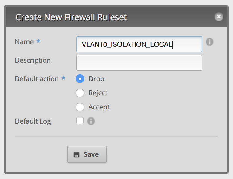 Create Firewall Ruleset LOCAL