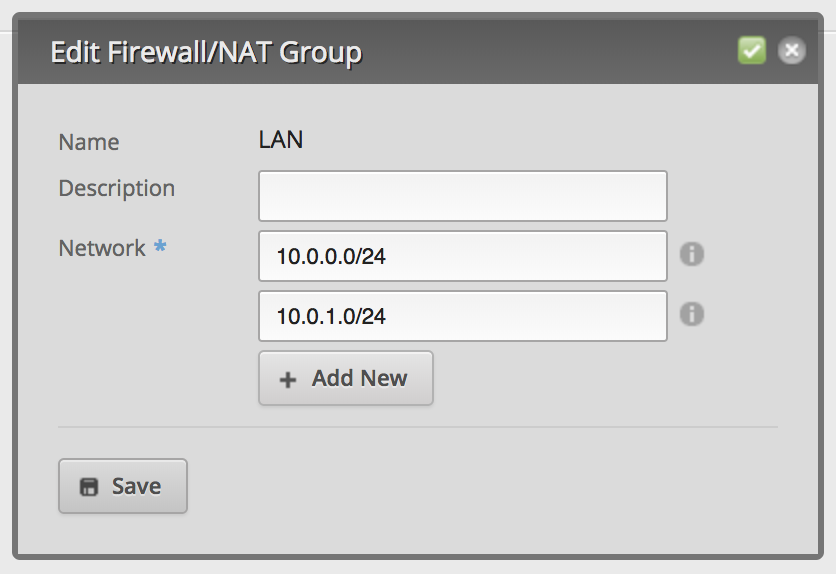 Create Network Group Add Networks